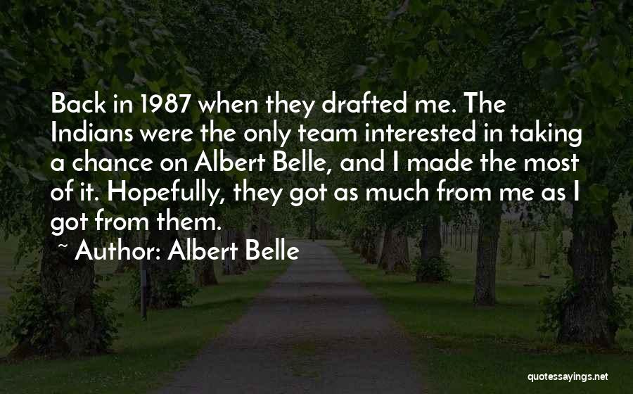 Albert Belle Quotes 1025610