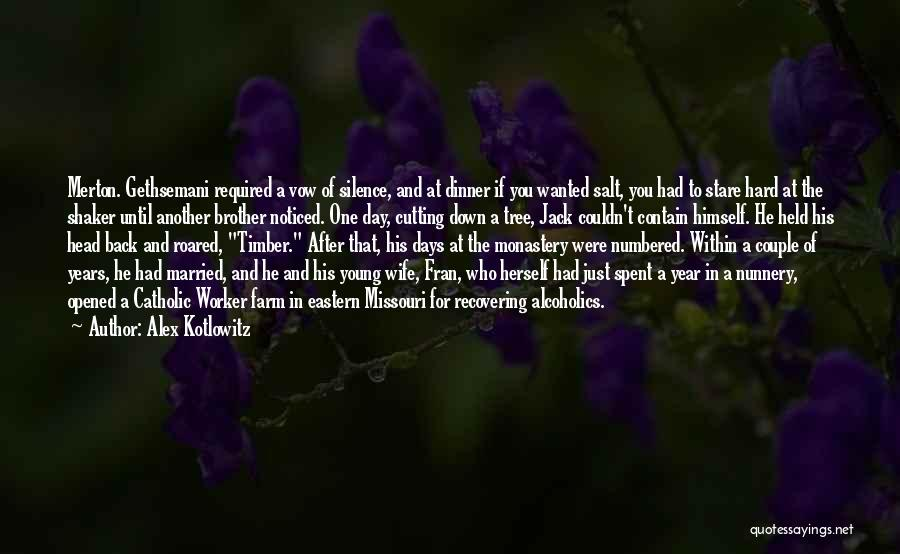 Alcoholics Quotes By Alex Kotlowitz