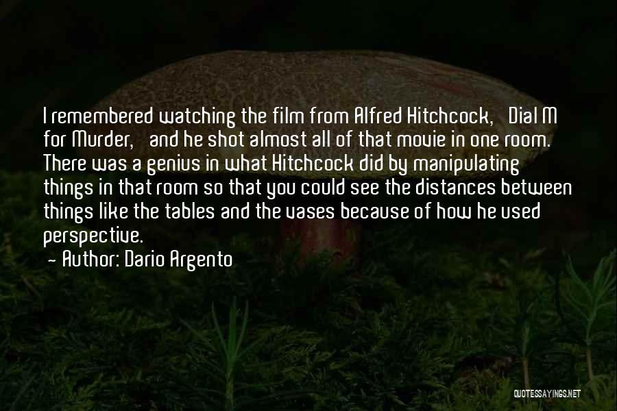 Alfred Hitchcock Movie Quotes By Dario Argento