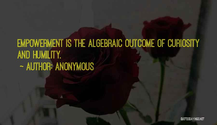 Algebraic Quotes By Anonymous
