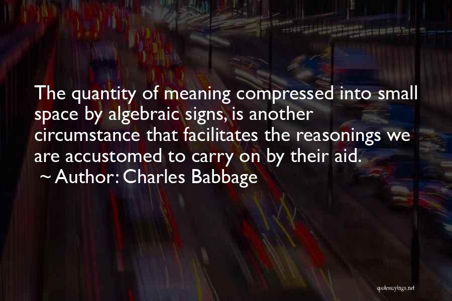 Algebraic Quotes By Charles Babbage