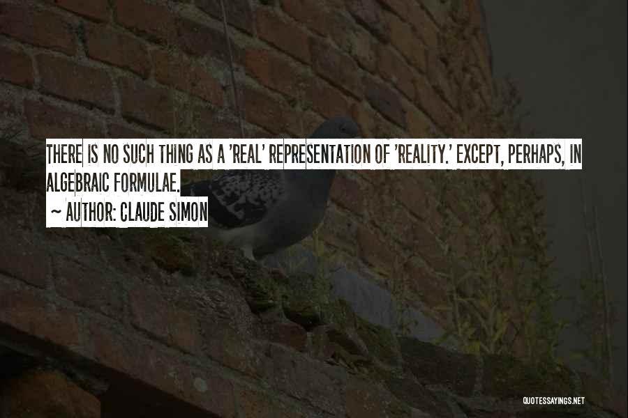 Algebraic Quotes By Claude Simon