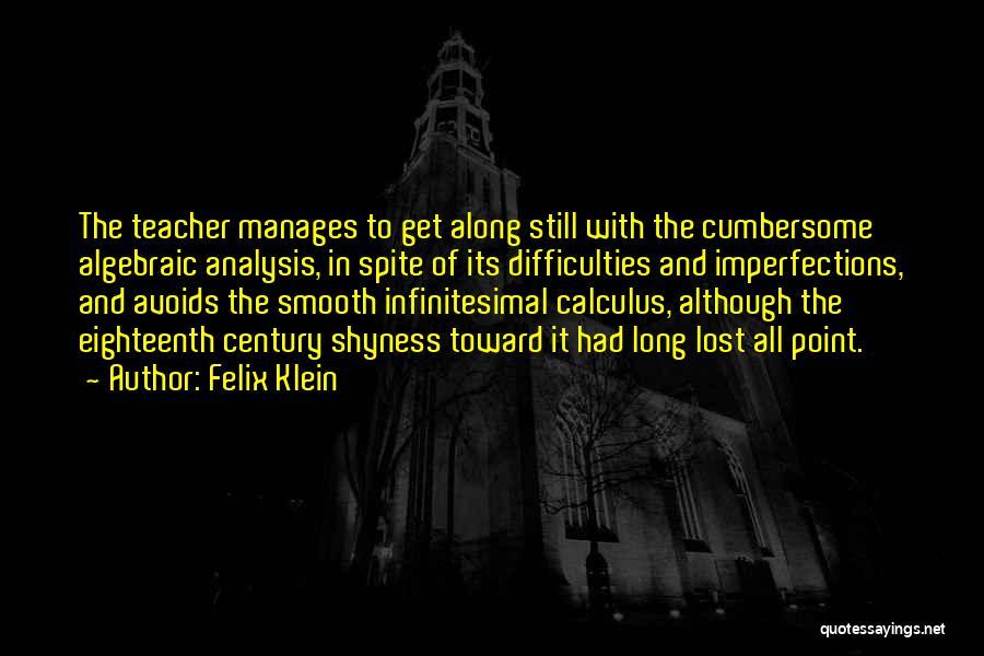 Algebraic Quotes By Felix Klein