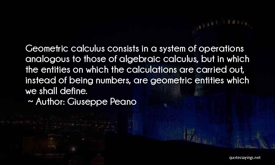 Algebraic Quotes By Giuseppe Peano