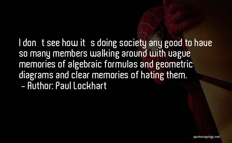 Algebraic Quotes By Paul Lockhart
