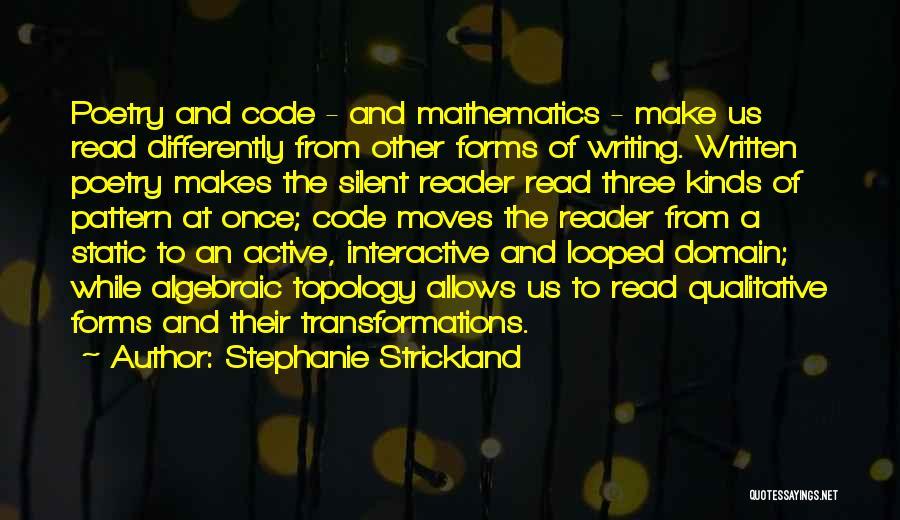 Algebraic Quotes By Stephanie Strickland