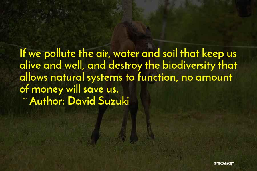 Alive And Well Quotes By David Suzuki