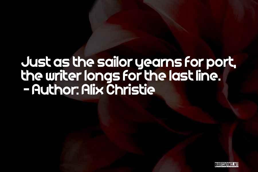 Alix Christie Quotes 564974