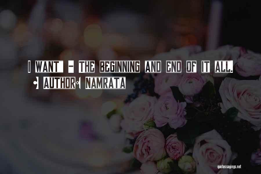 All I Want Quotes By Namrata