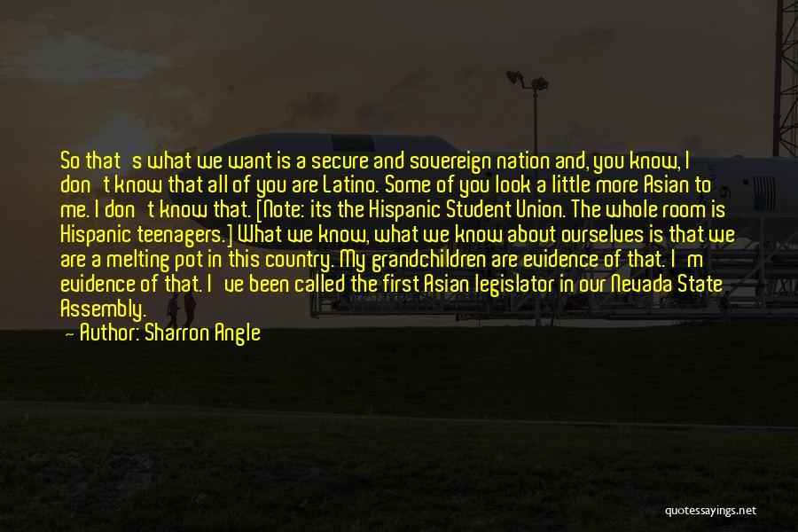 All I Want Quotes By Sharron Angle