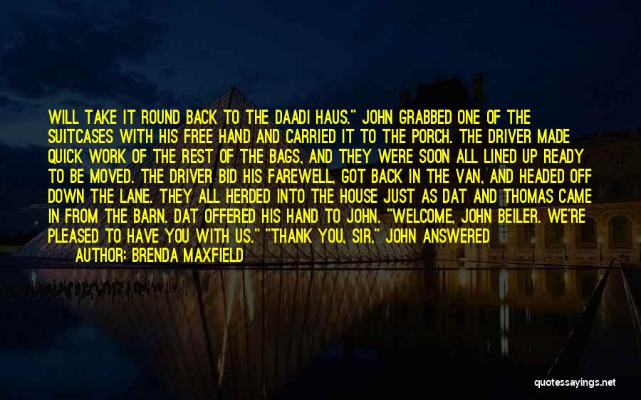 All Lined Up Quotes By Brenda Maxfield
