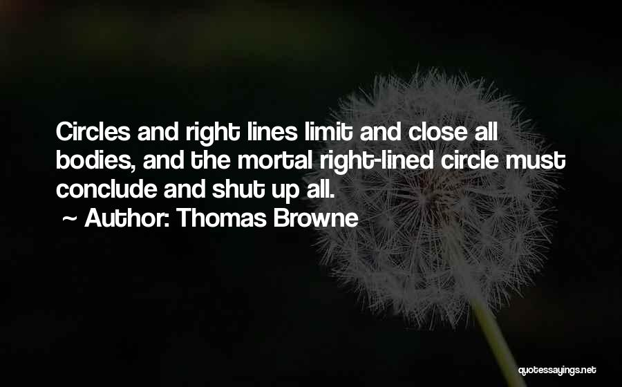 All Lined Up Quotes By Thomas Browne