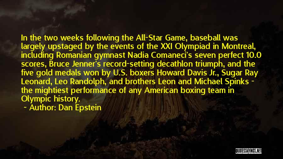 All Star Game Quotes By Dan Epstein