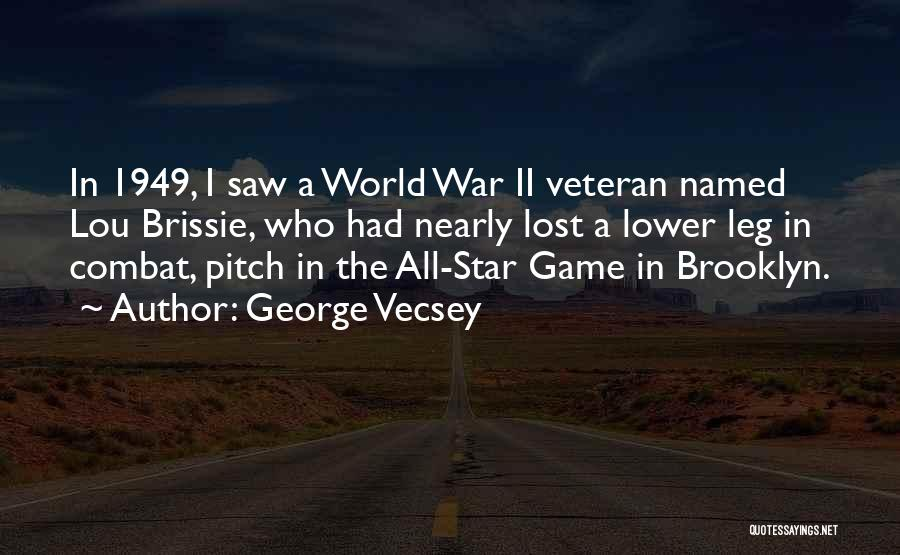 All Star Game Quotes By George Vecsey