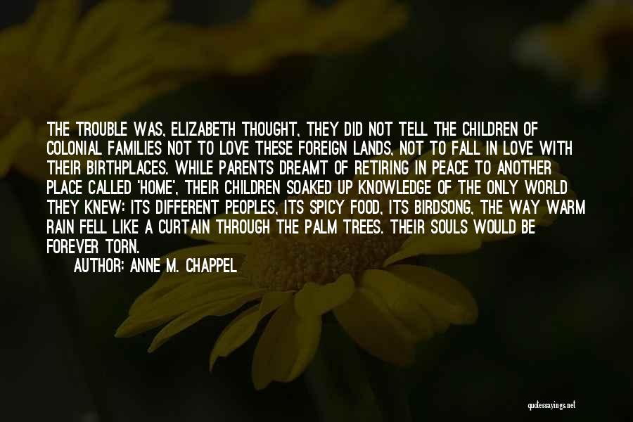 All Things Fall Into Place Quotes By Anne M. Chappel