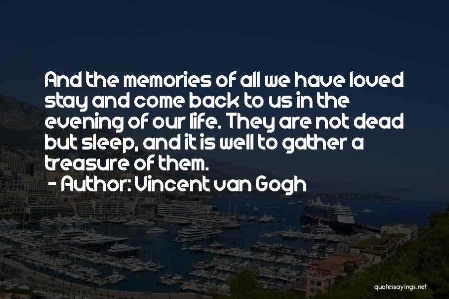 All We Have Are Memories Quotes By Vincent Van Gogh