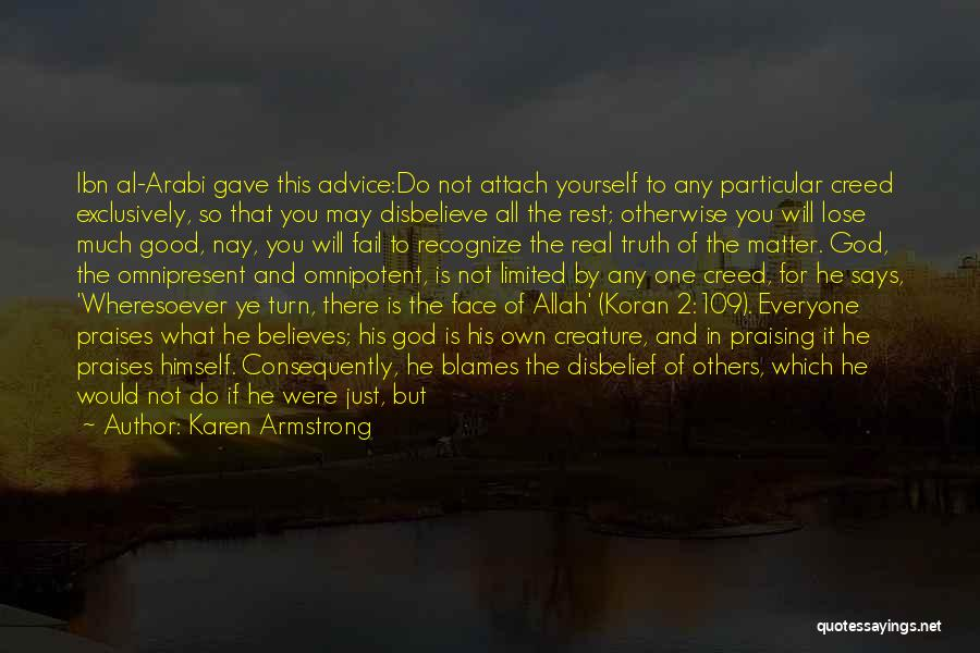Allah Creature Quotes By Karen Armstrong