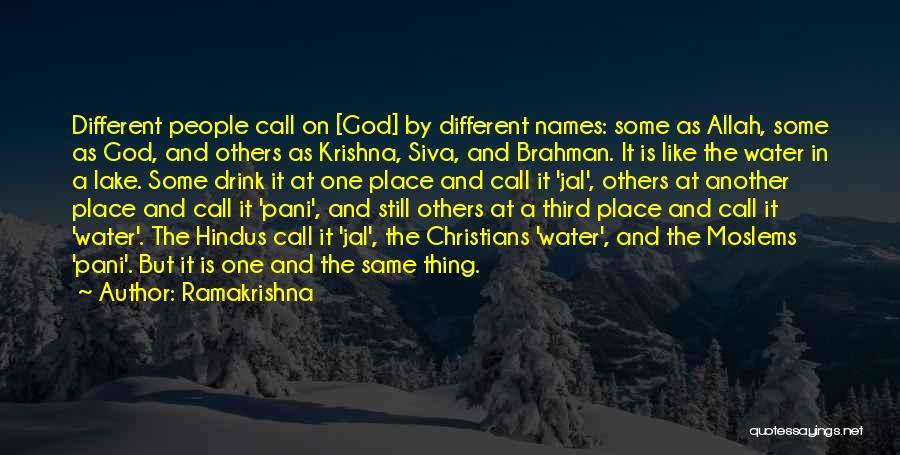 Allah Quotes By Ramakrishna