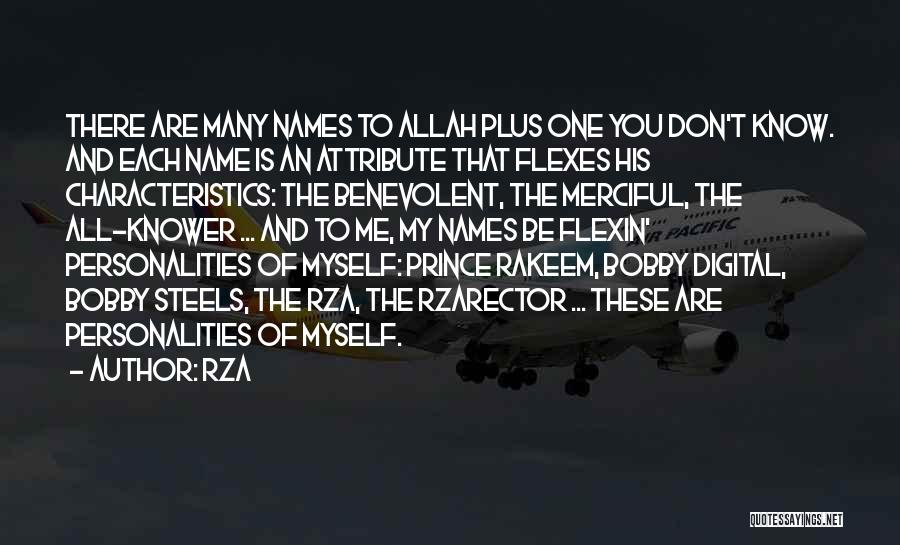 Allah Quotes By RZA