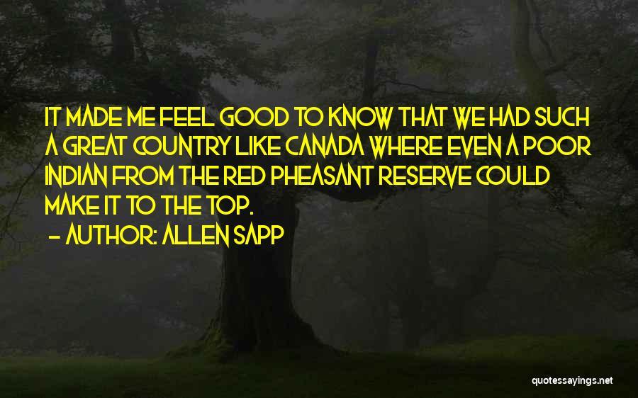 Allen Sapp Quotes 1954506
