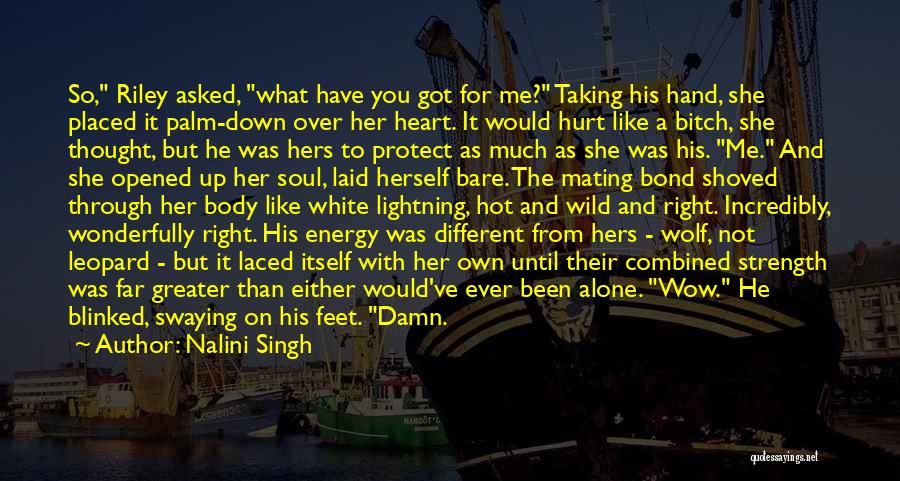 Alone And Hurt Quotes By Nalini Singh