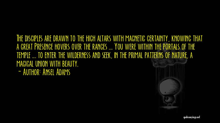 Altars Quotes By Ansel Adams