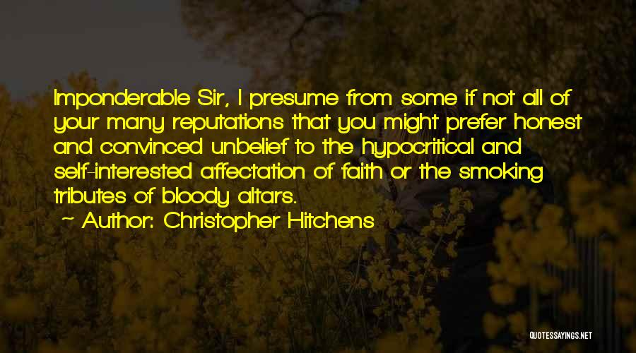 Altars Quotes By Christopher Hitchens