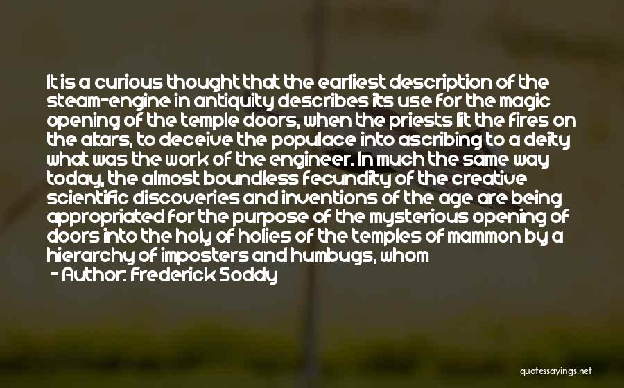 Altars Quotes By Frederick Soddy