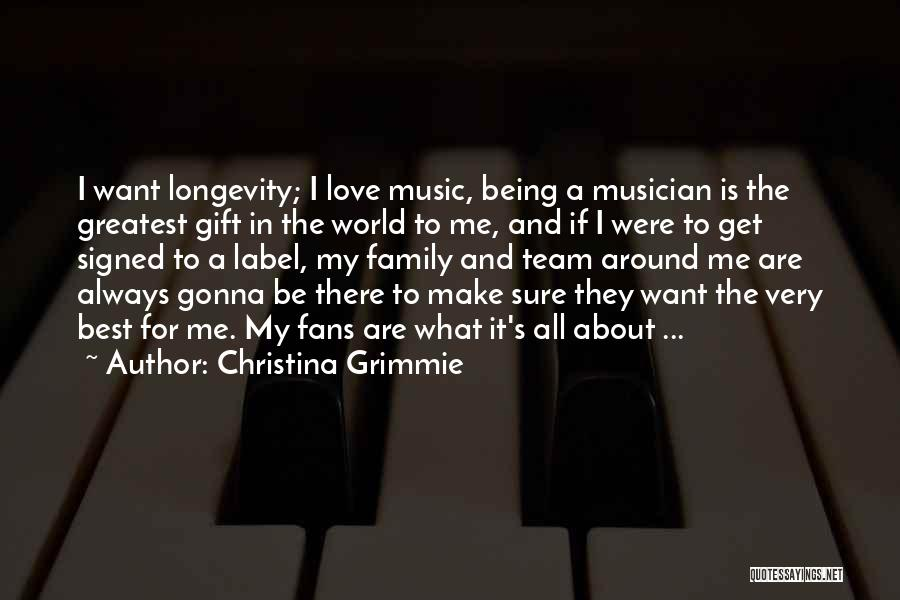 Always Be There For Family Quotes By Christina Grimmie