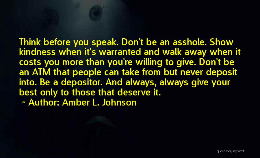 Always Give More Quotes By Amber L. Johnson