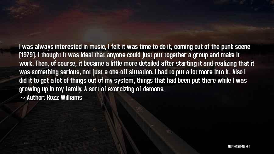 Always Together Family Quotes By Rozz Williams