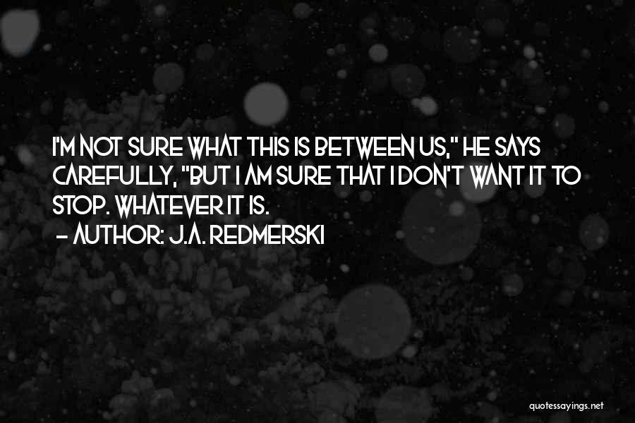Am I Sure Quotes By J.A. Redmerski