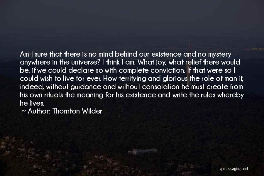 Am I Sure Quotes By Thornton Wilder
