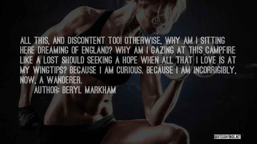 Am Sitting Quotes By Beryl Markham