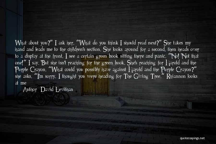 Am Sitting Quotes By David Levithan