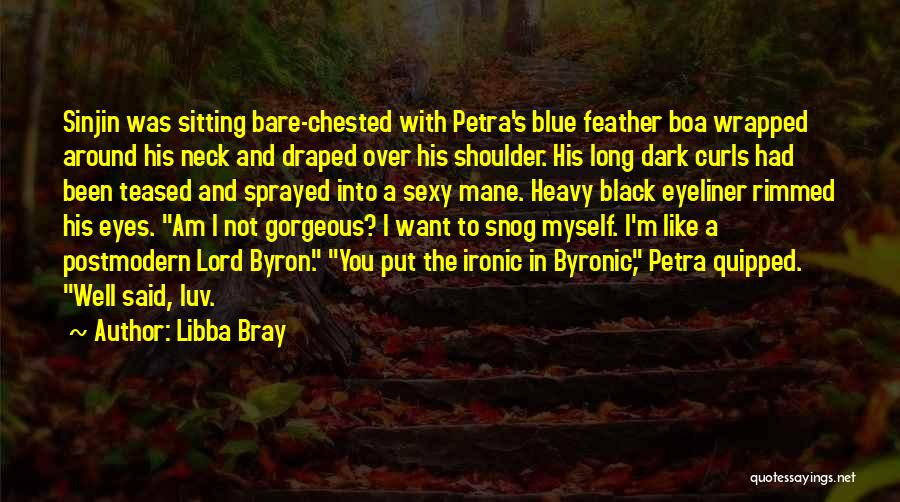 Am Sitting Quotes By Libba Bray