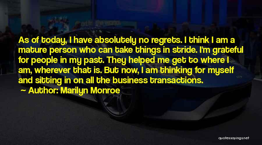 Am Sitting Quotes By Marilyn Monroe