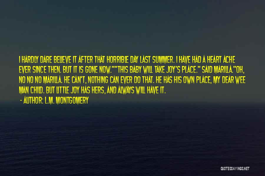 Am So Sorry Baby Quotes By L.M. Montgomery