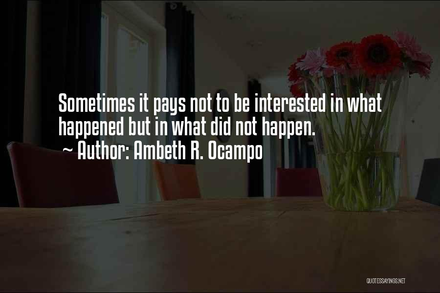 Ambeth R. Ocampo Quotes 1468657