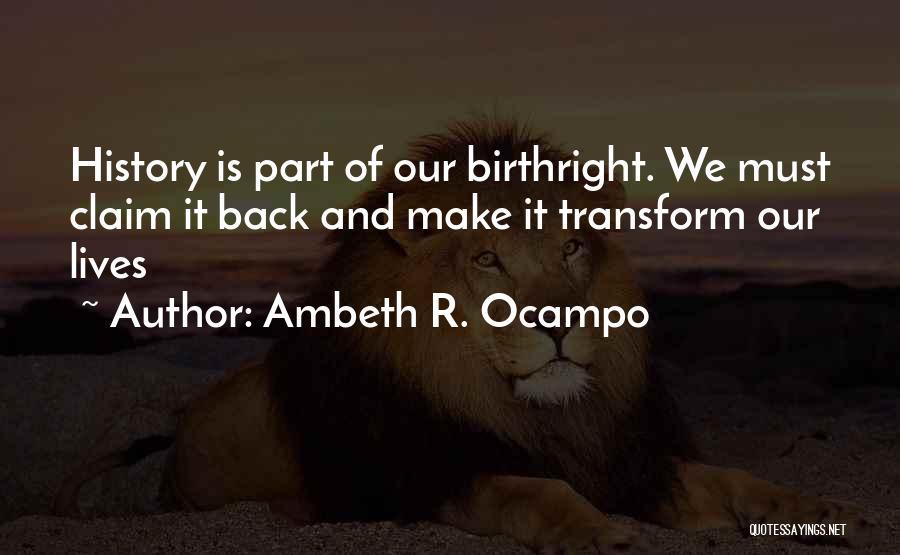Ambeth R. Ocampo Quotes 328893