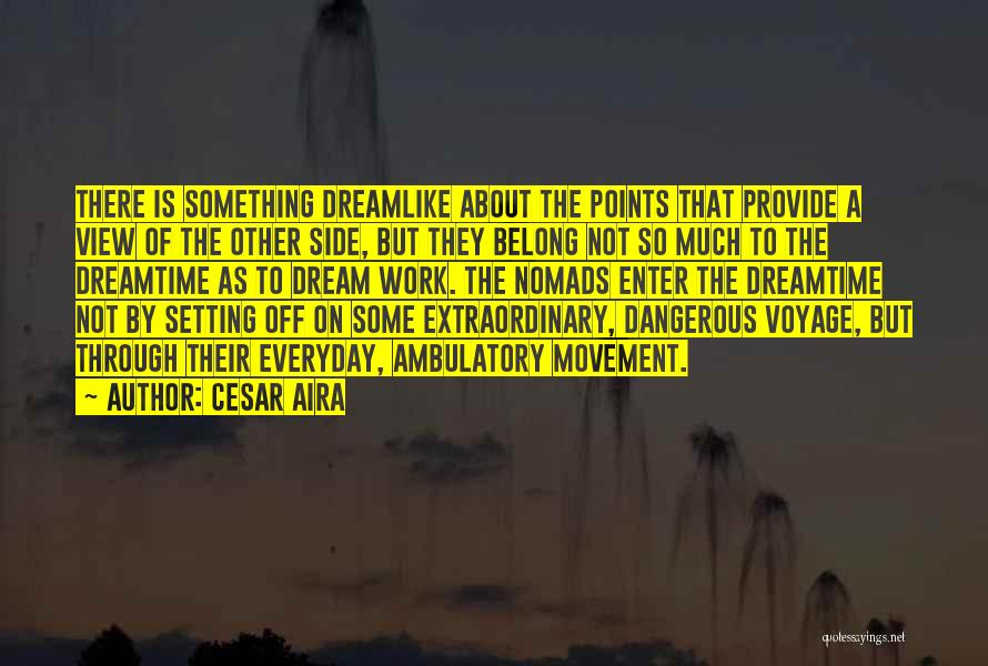 Ambulatory Quotes By Cesar Aira
