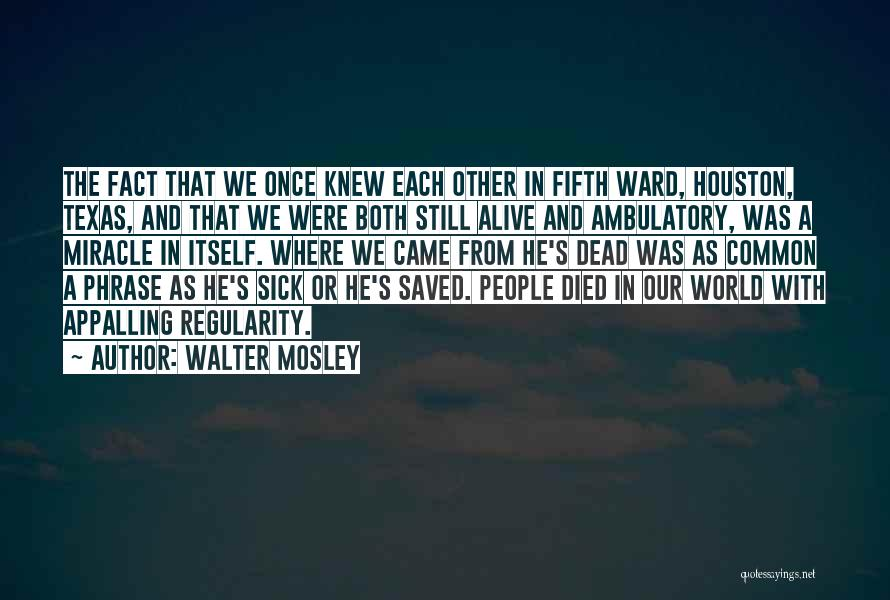 Ambulatory Quotes By Walter Mosley