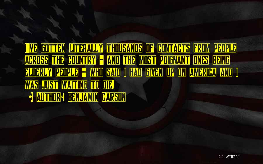 America Being The Best Country Quotes By Benjamin Carson