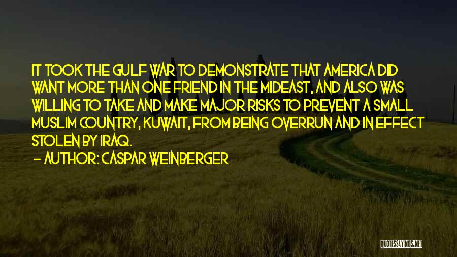 America Being The Best Country Quotes By Caspar Weinberger