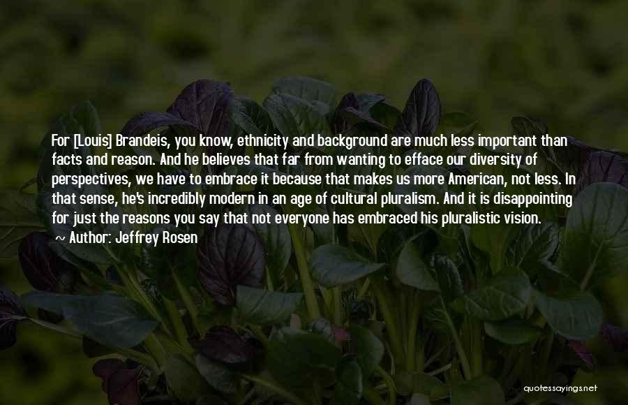 American Diversity Quotes By Jeffrey Rosen