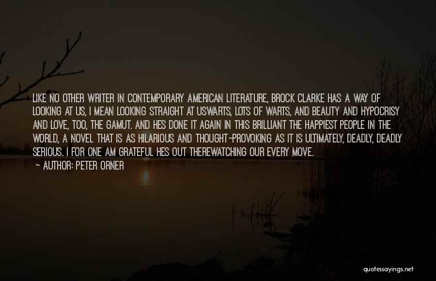 American Literature Love Quotes By Peter Orner