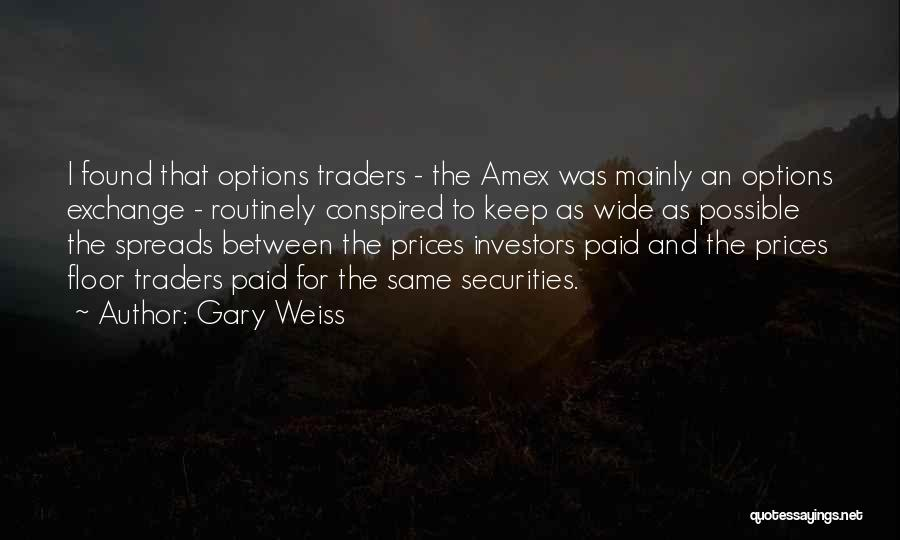 Amex Exchange Quotes By Gary Weiss