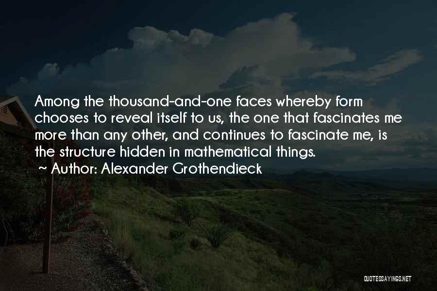 Among The Hidden Quotes By Alexander Grothendieck