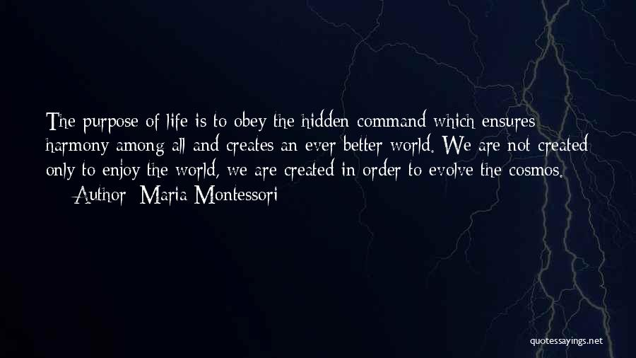 Among The Hidden Quotes By Maria Montessori