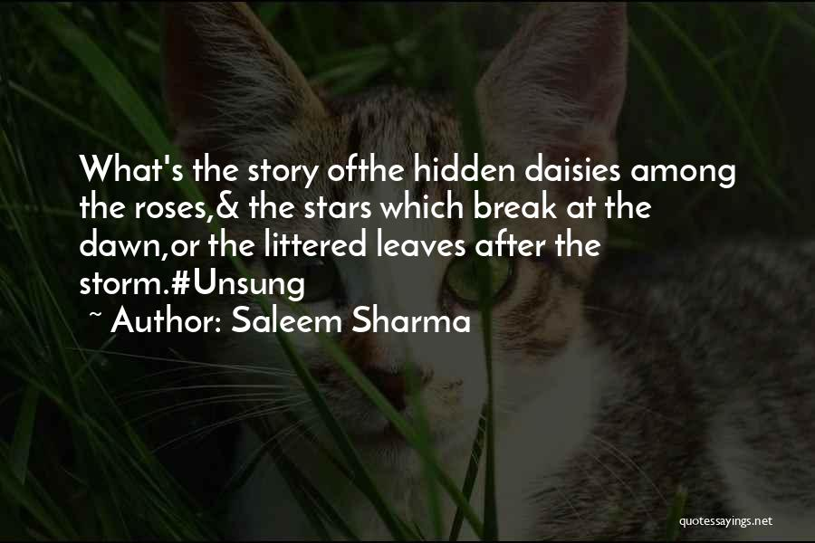 Among The Hidden Quotes By Saleem Sharma
